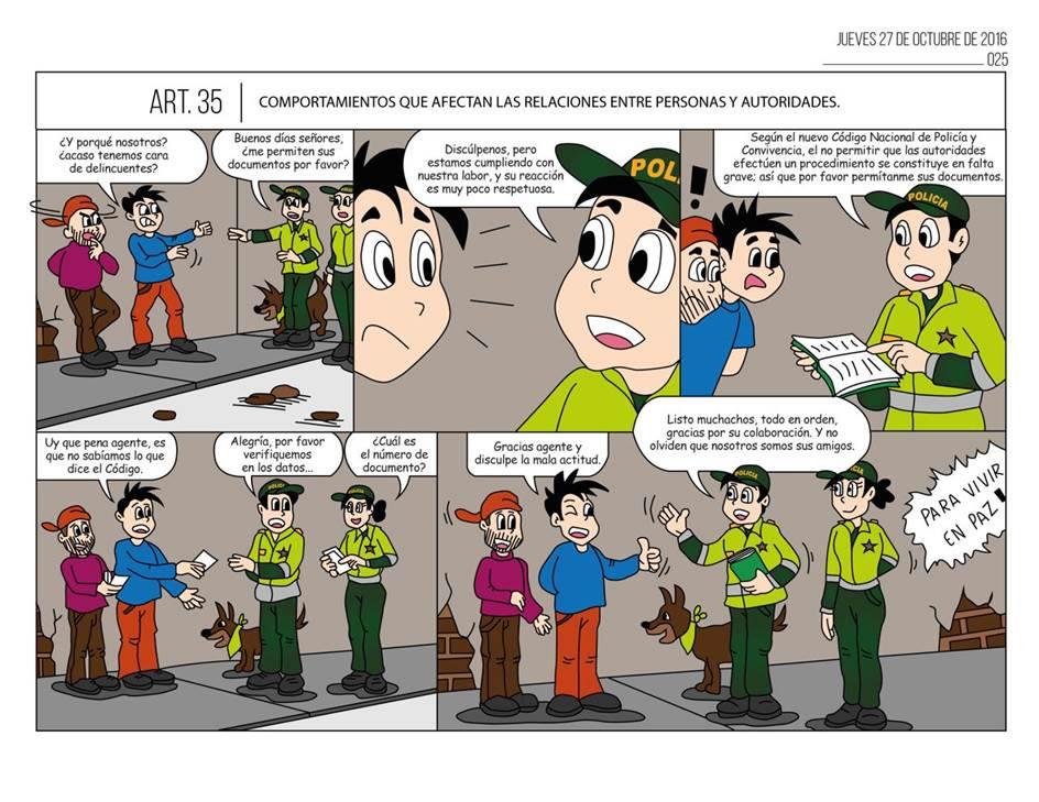 Caricaturas Del Nuevo Código De Policía Y Convivencia