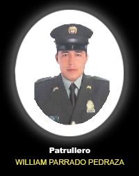 Patrullero WILLIAM ALEJANDRO PARRADO PEDRAZA