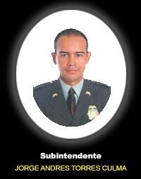 Subintendente JORGE ANDRÉS TORRES CULMA