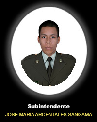 Subintendente JOSÉ MARÍA ARCENTALES SANGAMA