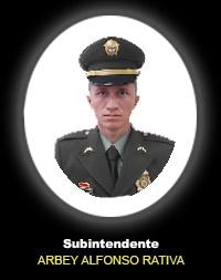 Subintendente ARBEY ALFONSO RATIVA