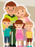 caricatura de una familia policial