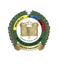 Escudo Escuela de Policía en Protección y Seguridad- ESPRO