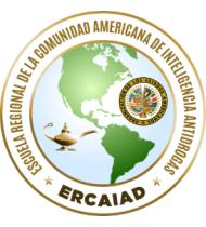 Escudo de la Escuela Regional de la Comunidad Americana de Inteligencia Antidrogas