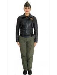 Uniforme overol de vuelo con chaqueta mujer.