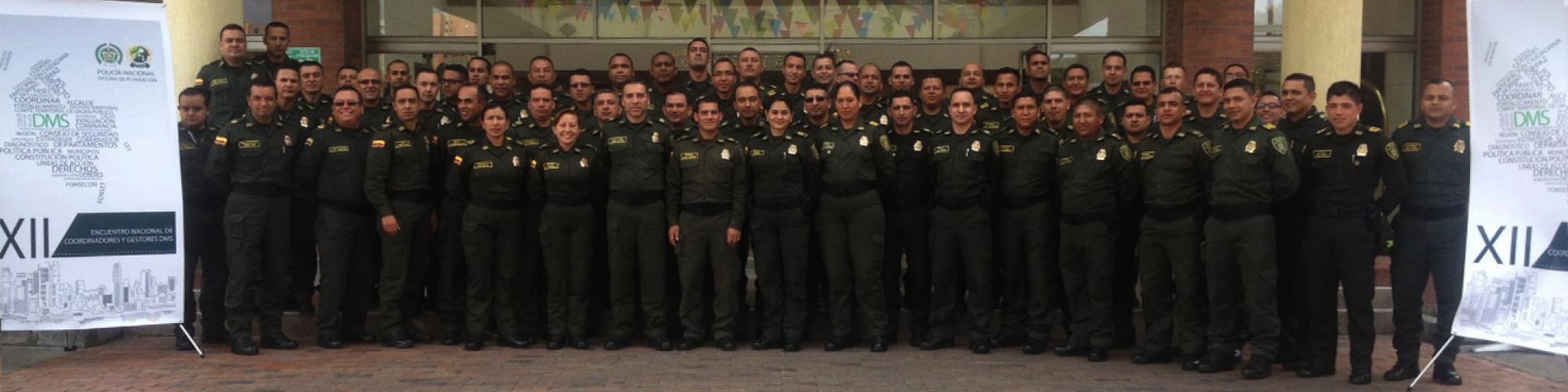 Integrantes del Programa Departamentos y Municipios Seguros (DMS) a nivel nacional