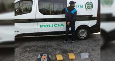 Hombre capturado con sustancias estupefacientes en el municipio de Girardota Antioquia