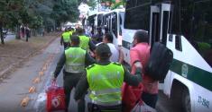 Traslado masivo de detenidos