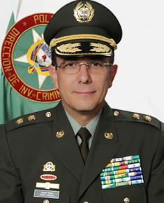 Brigadier General Jorge Luis Vargas Valencia, director de Investigación Criminal e INTERPOL