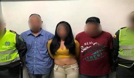 Tres capturados por hurto en Montería