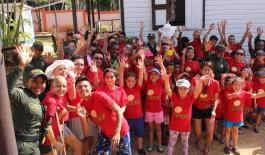 Niños de la Fundación 'Sanar' disfrutaron de una tarde en san andrés en compañía de la Policía Nacional
