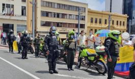 La Policía Metropolitana desplego todas sus capacidades institucionales durante las jornadas de protesta