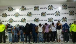 Personas capturadas que integraban la organización