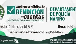 El departamento de policía Nariño realizará rendición de cuentas de la vigencia 2019