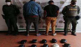 Con nueve kilos de marihuana capturamos a dos hombres