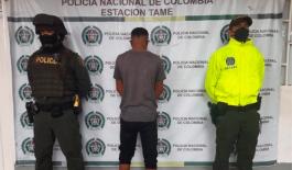 En tiempo récord la Policía Nacional captura responsable de homicidio en Tame