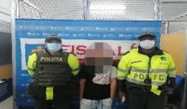 Capturado en flagrancia hombre de 31 años de edad, por los delitos de lesiones personales y hurto