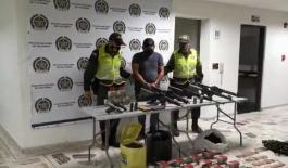 Capturado por el delito de tráfico de armas y municiones