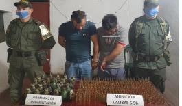 incautación de material de guerra en Nariño.