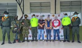 Capturados por desplazamiento forzado y secuestro