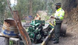 Capturados ejerciendo labores de minería ilegal