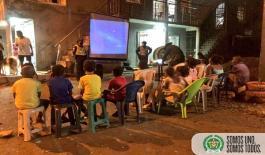 Con cine al parque promovemos la sana convivencia en los niños y niñas de Quibdó