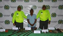 Policía desmantela armería ilegal para la elaboración y reparación de armas de fuego en Mocoa