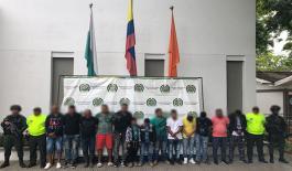 En Antioquia fueron capturados catorce integrantes del 'clan del golfo'
