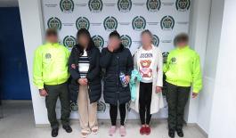 Capturadas tres mujeres integrantes de una organización delincuencial transnacional dedicada al lavado de activos