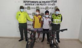 En la Jagua de Ibirico capturamos a dos personas por el delito de hurto