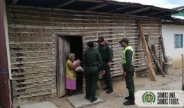 La solidaridad como virtud de los policías de Tolima