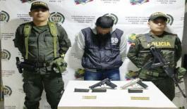 En Ricaurte Nariño fue capturado un hombre por homicidio y porte ilegal de armas.