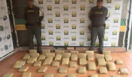 la Policìa Nacional incautada marihuana en Norte de Santander
