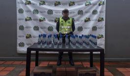 Incautadas (96) botellas de licor de contrabando en vías del putumayo