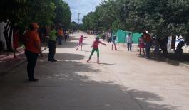 policia-compartir con los niños-tornero de patinaje-guamal-magdalena-trabajo interinstitucional-parroquia-mas cerca del ciudadano