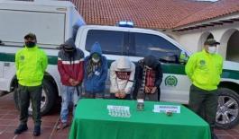 Labores de inteligencia e investigación de la policía permitió la captura de integrantes del grupo delincuencial 'los raspas'