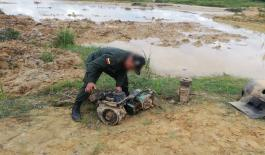 Fueron destruidos 13 motores de aspersión en el municipio de Ayapel