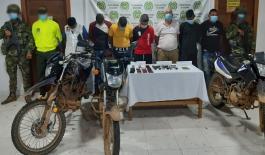 Se logró capturar a siete personas e incautar armas de fuego, celulares y motocicletas de alto cilindraje.