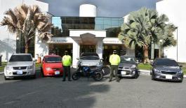 Logramos la recuperación de cinco vehículos, una motocicleta y autopartes