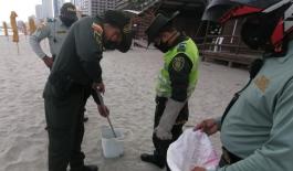 Rescatamos una serpiente Mapaná en playas de Bocagrande