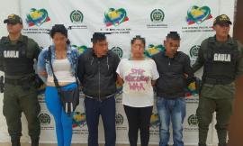 Cuatro personas capturadas por extorsion