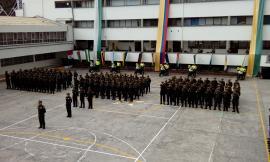 Grupo de Policías que apoyaran las festividades