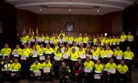 """Como """"Promotores de la Cultura en Seguridad Vial"""" la Policía de Tránsito de Bogotá, gradúa a conductores"""