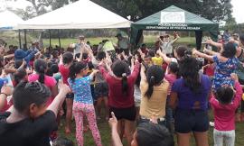 actividad comunitaria con niños del Vichada