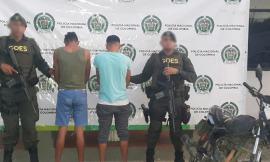 Dos personas capturadas por delito de fabricación, tráfico y porte de armas de fuego y hurto agravado calificado