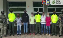 a se captura a seis presuntos integrantes del Grupo Armado Organizado residual Primero.