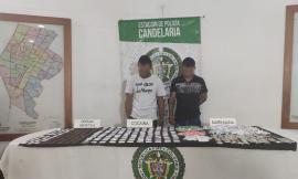 Dos personas capturadas con sustancias estupefacientes en Medellín