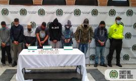 Capturadas 10 personas del grupo delincuencial común organizado 'el tablazo' de Itagüí