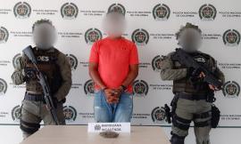 Ciudadano capturado en flagrancia por el delito de trafico de estupefaciente