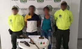 dos capturados-drogas-magdalena-zona bananera-sijin-estupefaciente-escopeta
